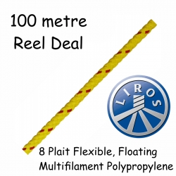 100 metre Hank Deal Liros 8 Plait Floating Safety Rope