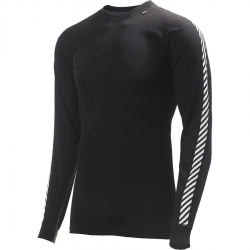 Helly Hansen Men's Lifa Dry Stripe Crew Black