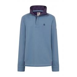 Lazy Jacks Men's Super Soft Plain 1/4 Zip Sweatshirt Slate Blue