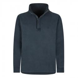 Lazy Jacks Men's Pigment Dyed 1/4 Zip Sweatshirt Marine