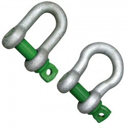 Galvanised Shackles - Certified Green Pin
