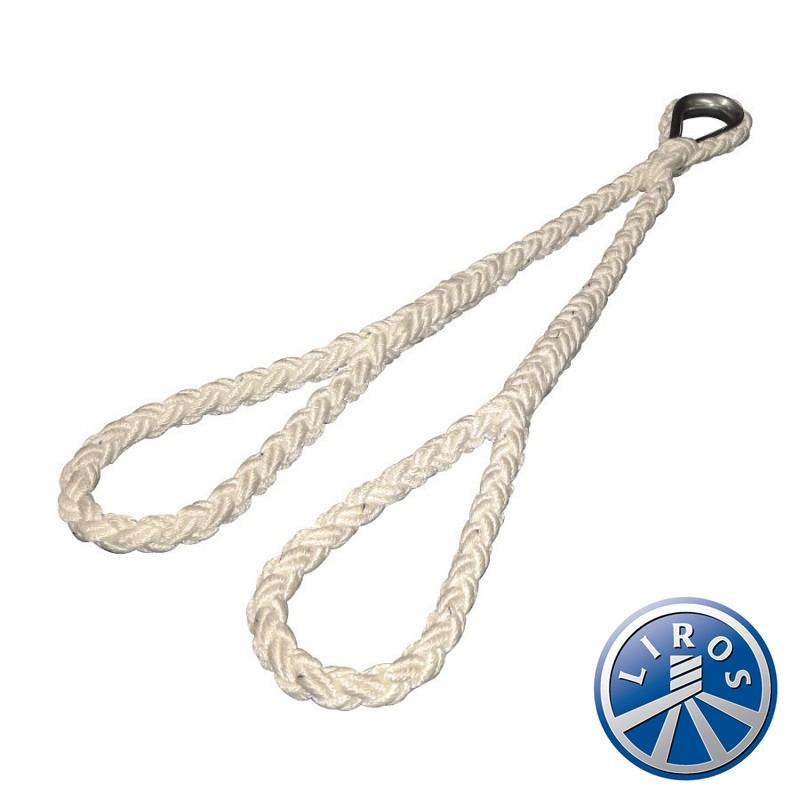 Mooring Rope Multiplait Octoplait 10mm 8 Strand White Nylon Rope Per Metre