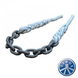 8mm Chain with 14mm 3 Strand Tails - Mooring Bridle