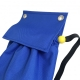 Halyard Bag Blue - detail of flap and elastic opening