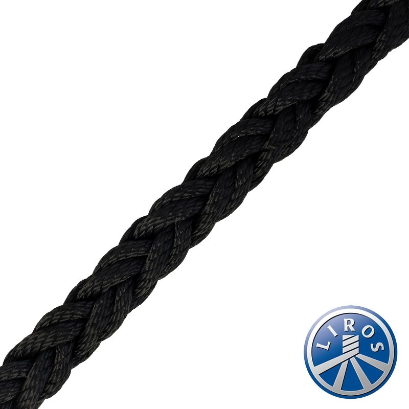 50 metre Hank Deal - LIROS Octoplait Polyester Black