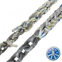 LIROS 20mm Anchorplait Nylon Spliced to 12mm Chain