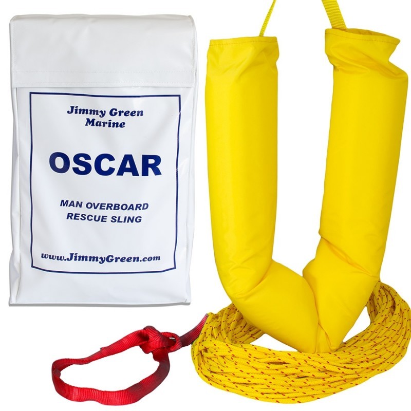 Oscar Man Overboard Recovery Sling - Bag and Contents-White