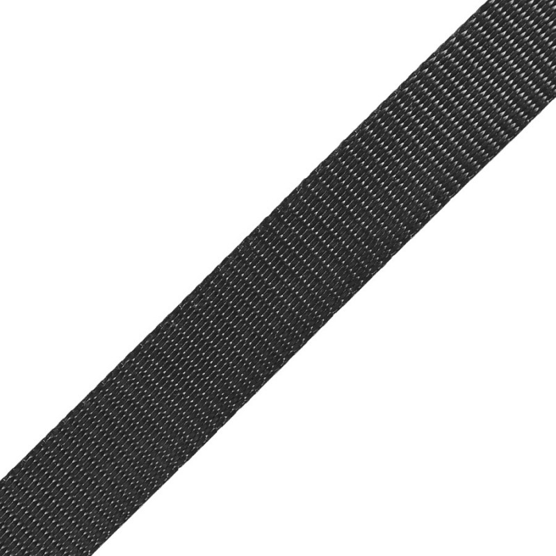 25mm polyester restraint webbing BLACK