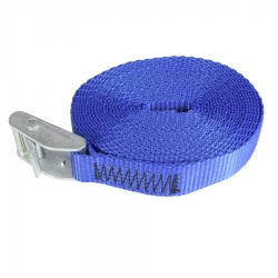 Cam Buckle with 4 metre Polypropylene Webbing Strap - Royal