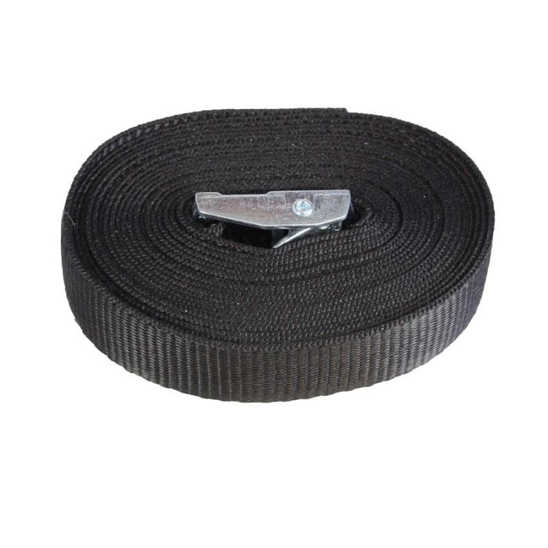 Cam Buckle with 4 metre Polypropylene Webbing Strap - Black