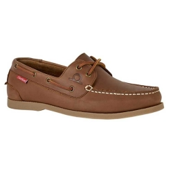 Chatham Galley II Leather Deck Shoes Dark Tan