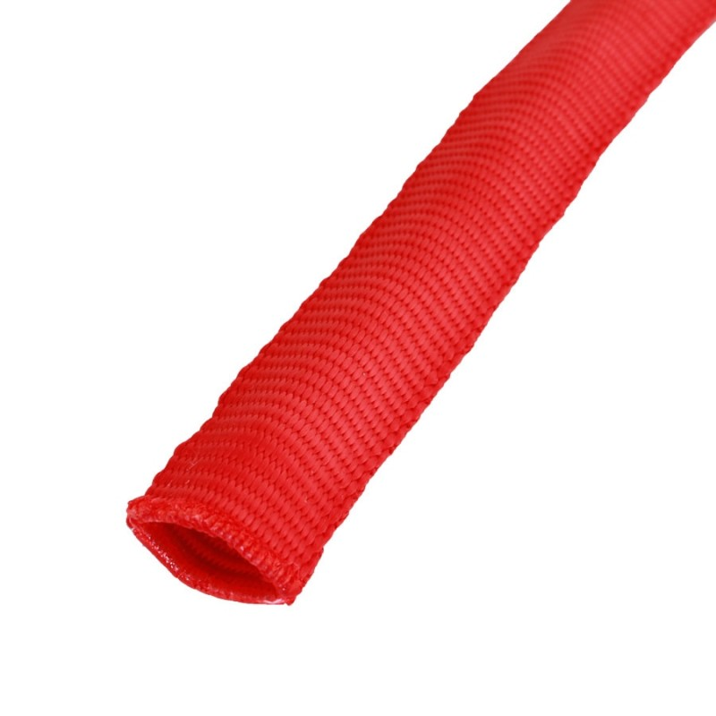 Anti-Chafe Tubular Polyester Webbing 25mm Red