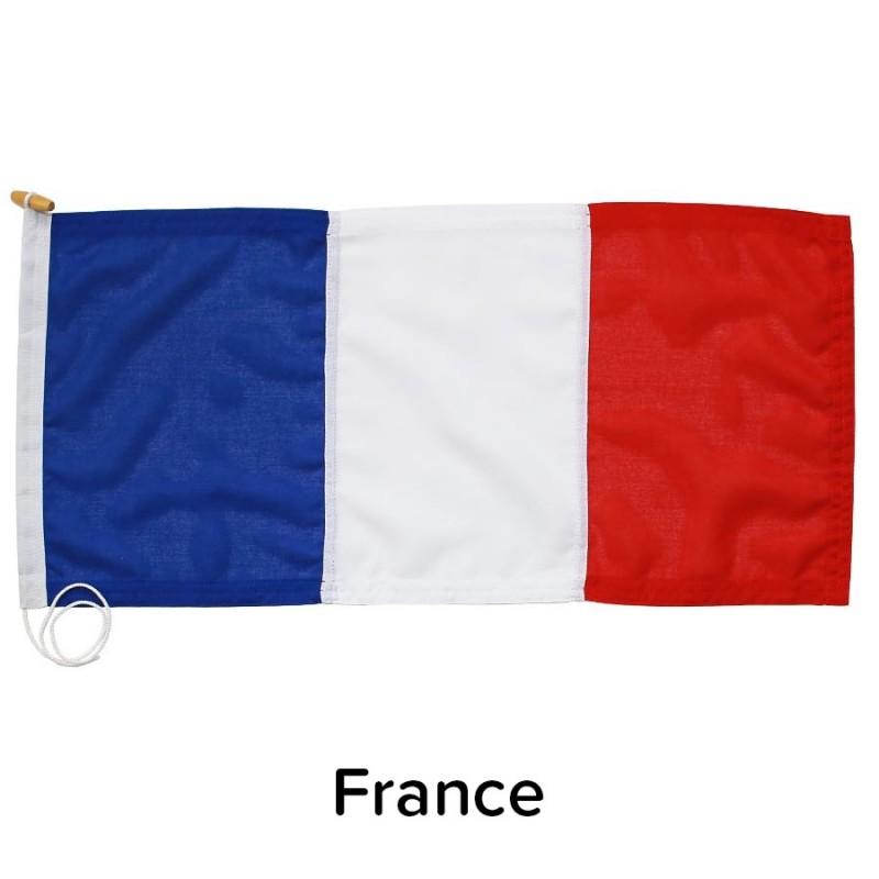 3/4 Yard Courtesy Flag - France, sewn