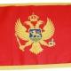 3/4 Yard Courtesy Flag - Montenegro, printed with sewn border_detail