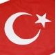 3/4 Yard Courtesy Flag - Turkey, sewn and appliquéed_detail