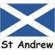 3/4 Yard Courtesy Flag - Saint Andrew