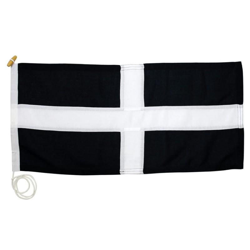 Cornwall, premium sewn flag of Saint Piran