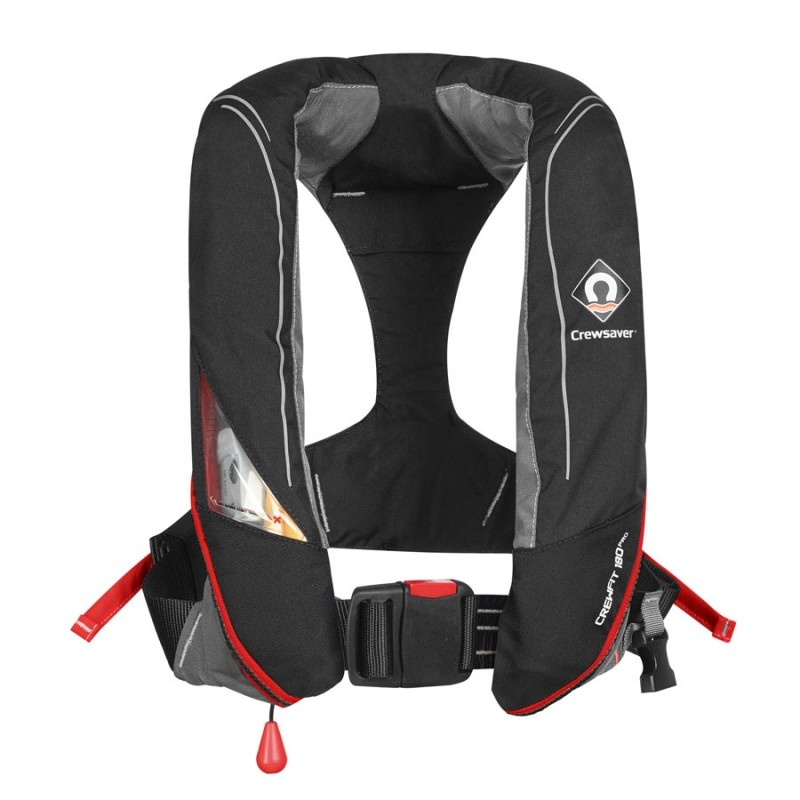 Crewsaver Crewfit 180N Pro Lifejacket Black/Red - Non Harness