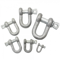 Jimmy Green Galvanised Pin D Shackle
