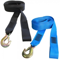 7 Metre Winch Strap with Hook - Colours