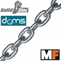 8mm DIN766 MF DAMS Grade 70 Calibrated Anchor Chain - Shorter Lengths