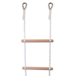 Rope Ladder with stainless steel thimbles added