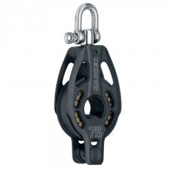 Harken 75mm Black Magic Block - Single - Swivel - Becket