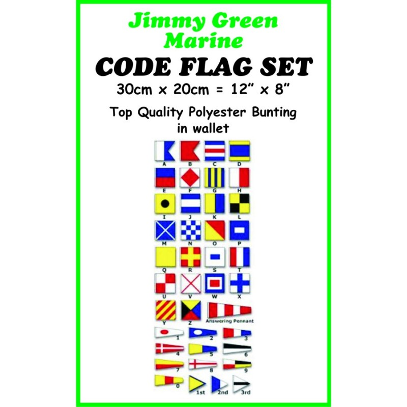 Code Flag Set 12 x 8