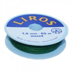 Liros waxed whipping twine green