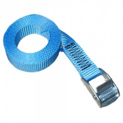 cam strap 25mm webbing blue