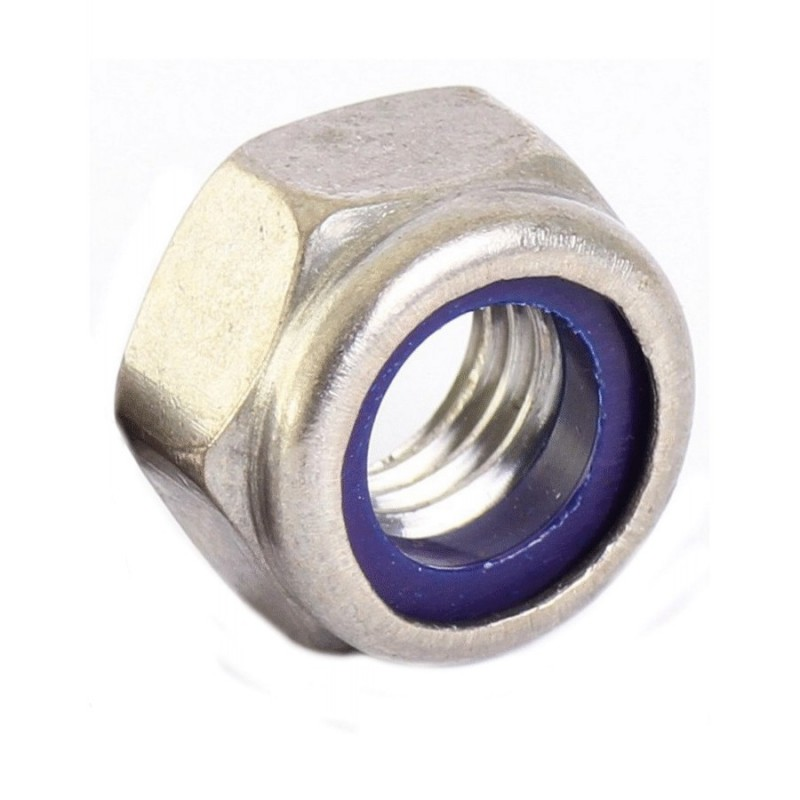 Stainless steel NYLOC hexagon nut