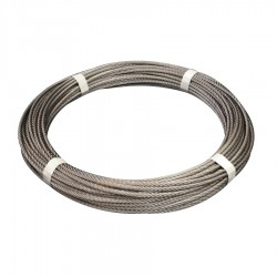 50 metre cut length - 7x19 Stainless Steel Wire Rope