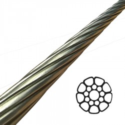 8mm 1x19 Compact Strand Stainless Steel Wire Rigging