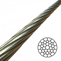 16mm 1x36 Compact Strand Stainless Steel Wire Rigging