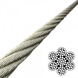 2.5mm Flexible 7x19 Stainless Steel Wire Rope