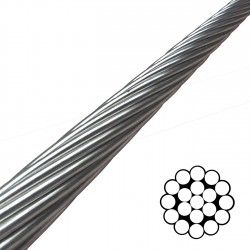 8mm 1x19 Stainless Steel Wire Standing Rigging