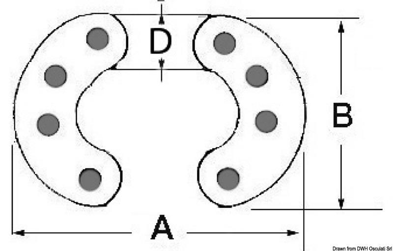Osculati Chain Link Dimensions