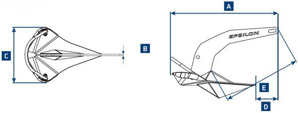 Lewmar Epsilon Anchor Dimensions Diagram