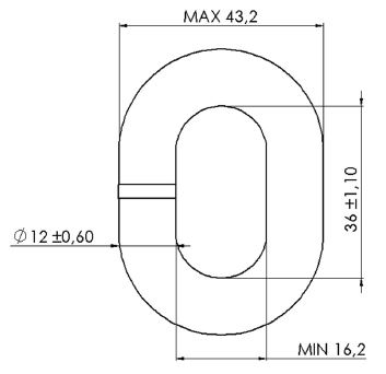 MF 12mm ISO Calibrated Chain Dimensions