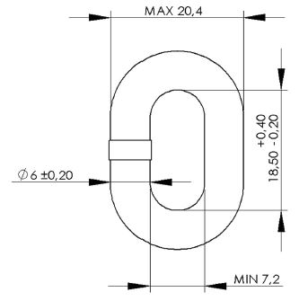 MF 6mm DIN766 Calibrated Chain Dimensions