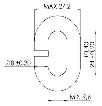 MF 8mm DIN766 Calibrated Chain Dimensions