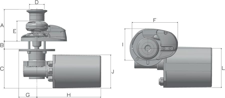 Lofrans X1 Dimensions
