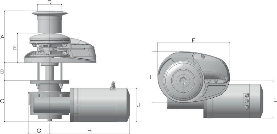 Lofrans X3 Dimensions