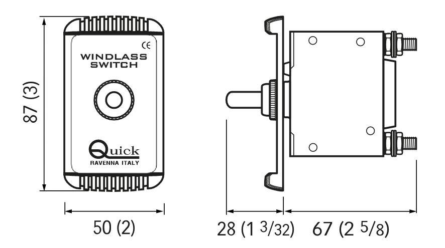 Quick Windlass Circuit Breaker Dimensions