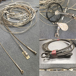 Old wire rigging for a template