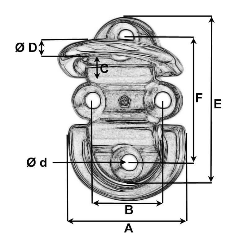 Double Folding Pad Eye Diagram