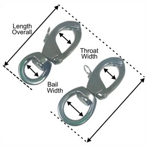 Hamma Top Opening Snapshackle Dimensions
