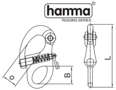 Hamma fixed snapshackle dimensions