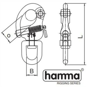 Hamma swivel snapshackle dimensions