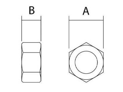 Sta Lok Hex Nut Diagram